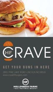 Crave Burgers Restaurant Delivery lincoln nebraska