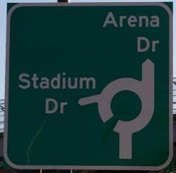 Husker Stadium Roundabout Lincoln Ne